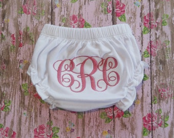 Personalized Diaper Cover - Girls Diaper Cover - Personalized Bloomers - Girls Bloomers - Monogrammed Diaper Cover - Monogrammed Bloomers