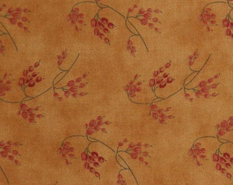 Moda Fabric ~ Harvest Home by Brannock/Patek ~ Gold with Wheat Sprays