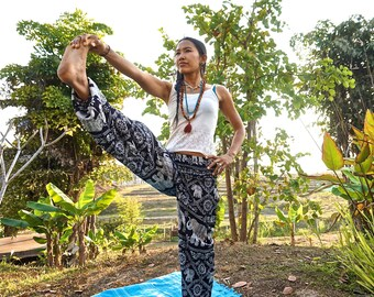 Elephant Pants // Harem Pants // Hippie Pants // Bohemian Pants // Meditation Pants // Yoga Pants // Bohemian Clothes // Boho Chic