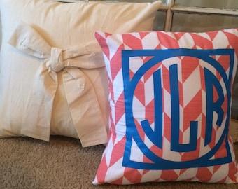 Custom Monogrammed Pillow!