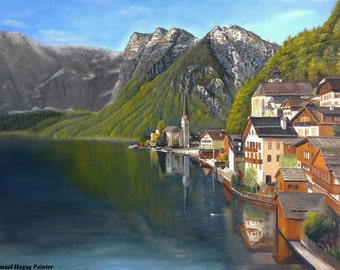 Austria view oil painting