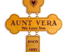 Christmas Gift to Aunt from Niece,Nephew,Aunt Decorative Wall Cross, Custom Aunt Appreciation Sign, Special  Aunt Gift, Cross Wall Hanging.