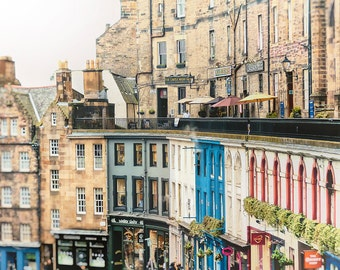 Edinburgh Photography, Scotland Photo, Diagon, Edinburgh, Victoria Street, Fine Art Print - Victoria Terrace, Edinburgh, Color/Processed