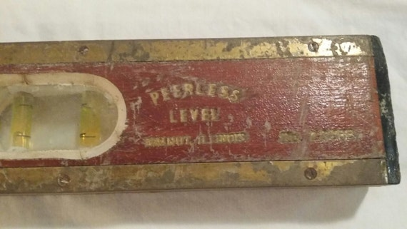 Antique 24 Inch Peerless Level Wood And Brass No 222bb