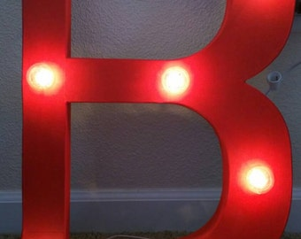 Lighted Letters *Color and Letter customized to desire.*