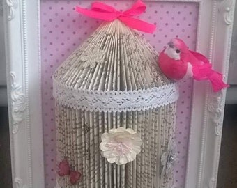 vintage, shabby chic style bird cage