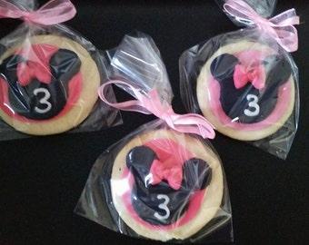 Minnie Mouse Sugar Cookies (One dozen)
