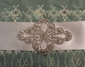 Crystal Rhinestone wedding sash