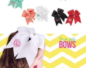 Monogrammed Hairbows