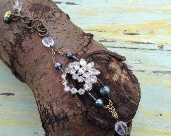 Sparkely repurposed bracelet