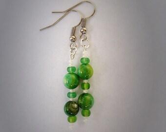 Little green drop earrings.