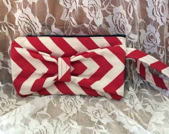 Red Bow Clutch Purse