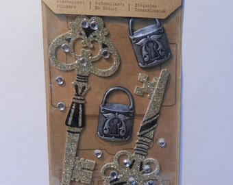 Jolee's Boutique EK Success Glitter Lock and Key