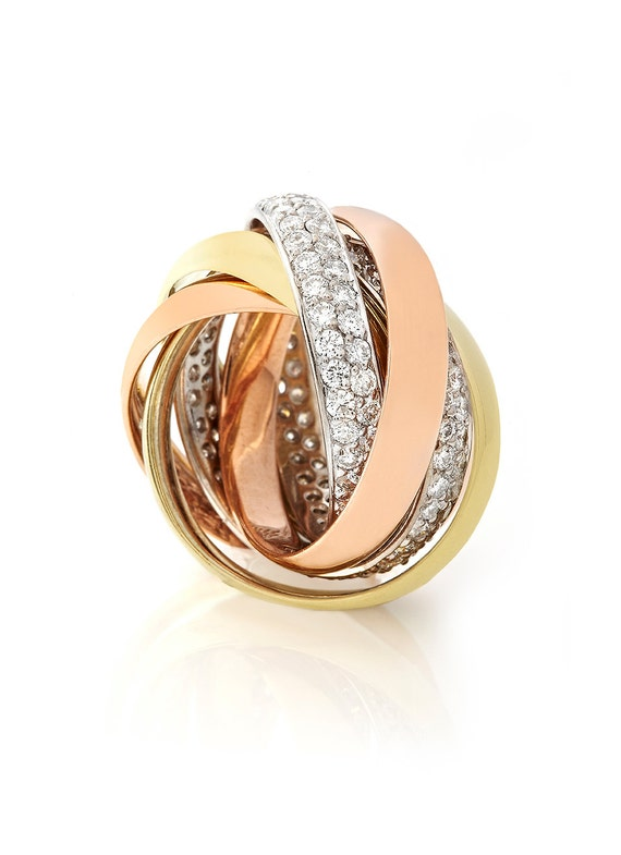 14kt white and yellow gold russian wedding band with