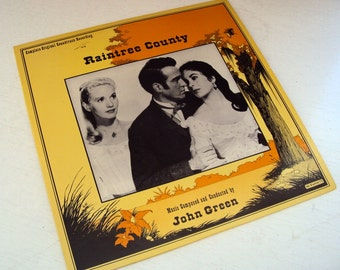 1973 John Green's Raintree County Soundtrack staring Elizabeth Taylor 2x Vinyly LP