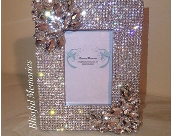 Crystal covered picture frame