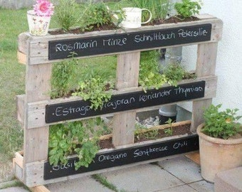 Patio Vertical Herb Garden made from reclaimed wood. FREE LOCAL PICKUP!