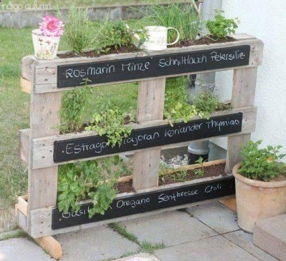Patio Vertical Herb Garden made from reclaimed wood FREE