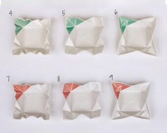 Origami dip bowl