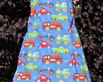 Child's 3/4 Apron with cars (#  398 )