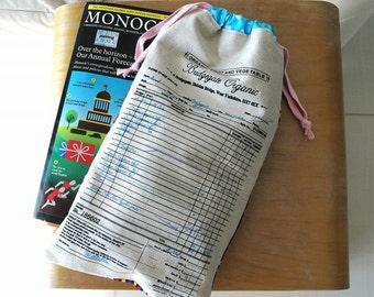 BRIDGEGATE ORGANIC Invoice Drawstring Bag