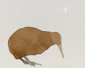 Kiwi Bird print