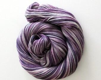 Handdyed Merino/Silk Sock Yarn - Othello - purple, lavender, grey, gray, black - Classy
