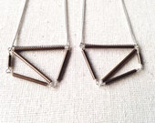 Forme Geometric Brass Necklace in Silver