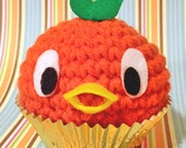 Amigurumi Orange bird cupcake