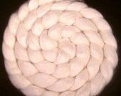 Undyed Natural Merino Bamboo Silk Roving - 4 oz. -  Spinning Fiber
