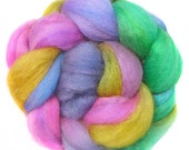 SPARKLY SUPERWASH BFL roving top handdyed wool spinning fiber 3.6 oz