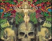 Goddess Art Mind Garden Psychedelic Art 5x7 Blank Greeting Card