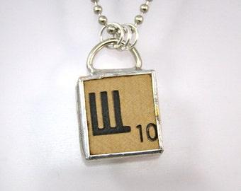 Russian Scrabble Letter Pendant Necklace