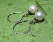 Sweet Simple Pearls - Freshwater Pearl and Sterling Silver Earrings