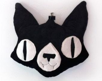 SALE- Cat Face Pillow Plush - Super soft pillow for your bed