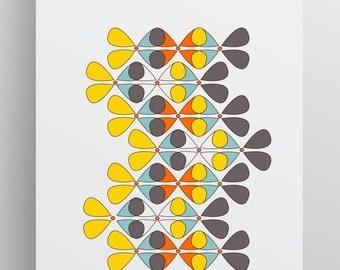 School Fish - Instant Modern Digital Download Art- Multiple sizes - Ready to Frame - Wall Art - Print Art - Printable