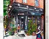 The Bedford Cheese Shop, Williamsburg, Brooklyn, NYC, Coaster by PJ Cobbs New York Neighborhoods