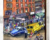 Second Avenue Deli, East Village, NYC, Coaster by PJ Cobbs New York Neighborhoods