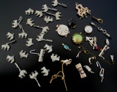 vintage RHINESTONE Connectors & Clasps - large lot Jewelry Findings