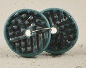 Textured Discs - Antique Turquoise