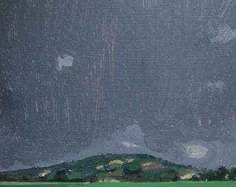 November 1st, Garden Hill, Original Landscape Painting on Paper, Stooshinoff