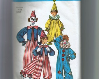 Simplicity  Adult Clown Costume Pattern 7162