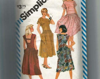 Simplicity Misses' Pullover Dropped Waist Dress In Two Lengths Pattern 6296