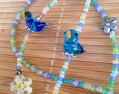 Blue bird eyeglass Chain