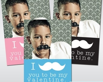 I Mustache You To Be My Valentine Digital File Printable Valentine Mustache Valentines