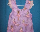 Little Girl Ballerina Smock Apron 2T - 3T