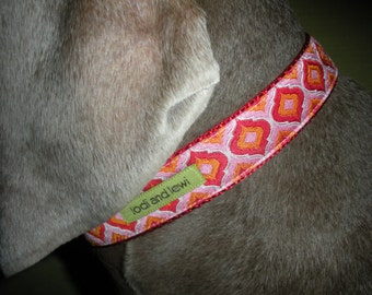 Imperial Collar in Pink and Orange