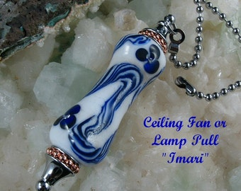 Ceiling Fan Pull Light Pull Glass Handmade Bead FREE SHIPPING!