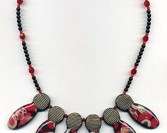 Necklace of polymer clay Statement