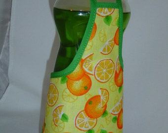 Orange Garden Kitchen Decor Dish Soap Bottle Apron Cover Staffer Party Favor Kitchen Decor Fun